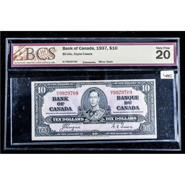 Bank of Canada 1937,$10 VF20 BCS (562)