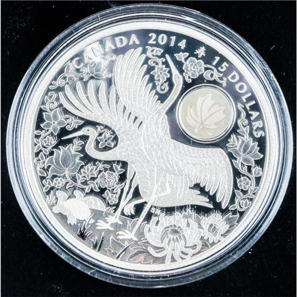 RCM 2014 Fine Silver $15 Maple of Longevity
