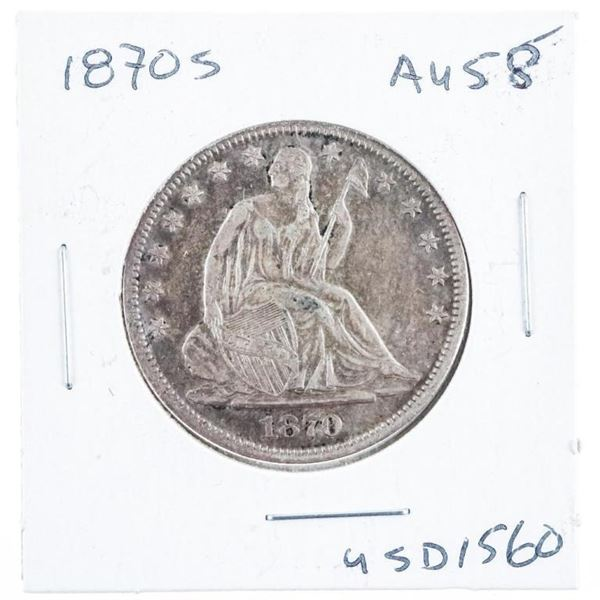 1870 - S USA Silver Half Dollar AU 58 High  Grade (mxrr)