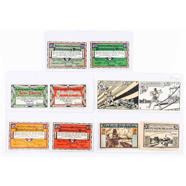 Group of 10 - Germany & Austria - Emergency  Money - Artistic Notes