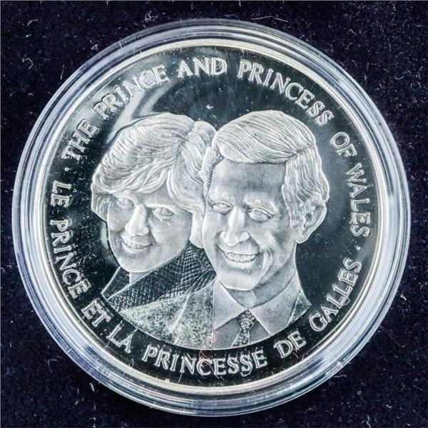 925 Sterling Silver Royal Wedding 1983 Proof  Coin