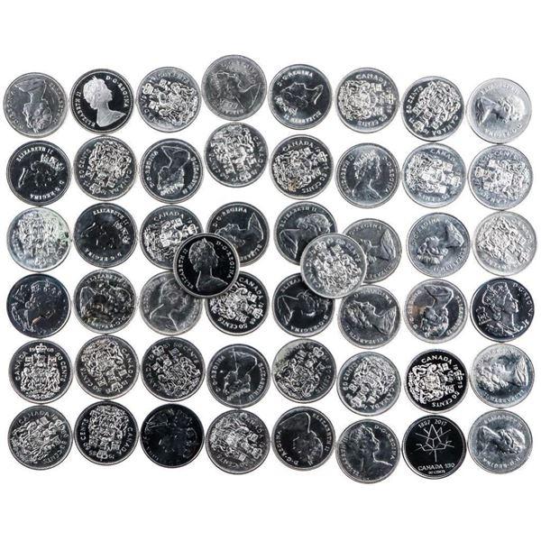 Bag/Lot 50 Canada Half Dollar Coins