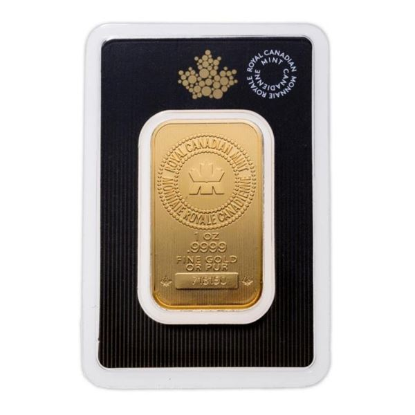 Royal Canadian Mint .9999 Fine Gold 1oz Bar.  Very Collectible (Tax Exempt). Available for  Delivery
