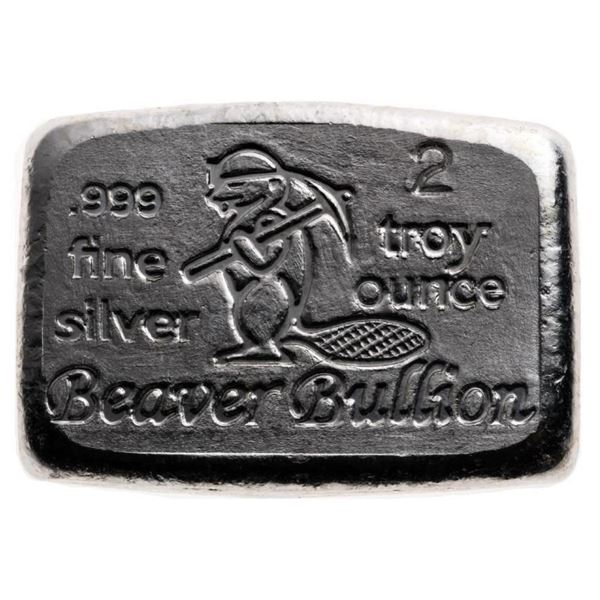 Hand Poured Bullion Brick .999 Fine Silver  2oz ASW