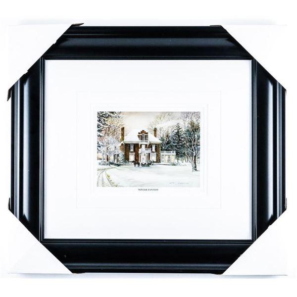 "Trisha Romance -""Winter Fantasy"" Framed Book  Print"