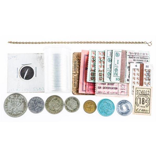 Estate Bag/Lot Coins Stamps Necklace Etc.