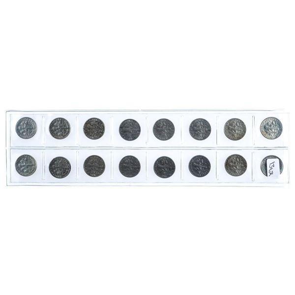Lot 16 USA Silver Liberty Ten Cents /Dimes