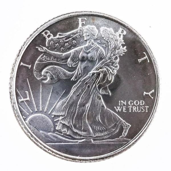 Fine Silver Golden State Liberty Round