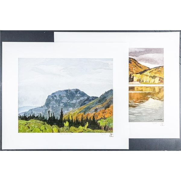 A.J. Casson (1898-1992) 'The White Series' 2  Images 'Summer's End' LE/250 Worldwide 18x21  Unframed
