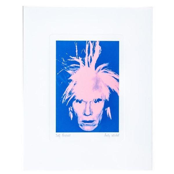 "Andy Warhol Giclee 5x6 "" ""Self Portrait"""