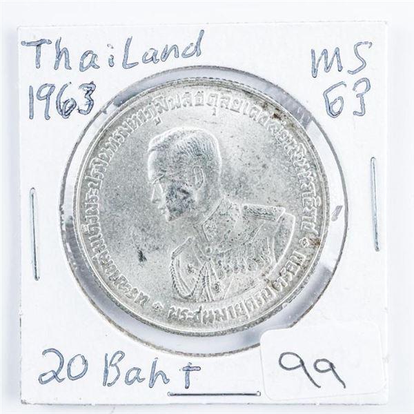 Thailand Silver (EF) 20 Baht .4822 ASW