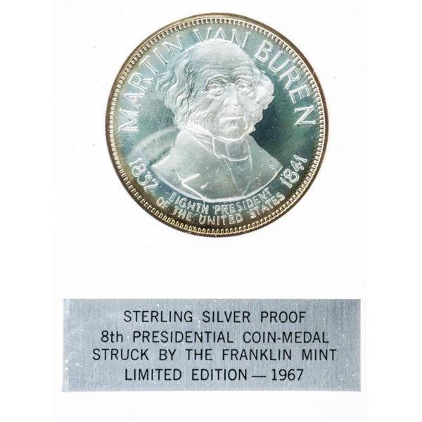 Presidential 925 Sterling Silver Proof Coin -  Medal - Martin Van Buren