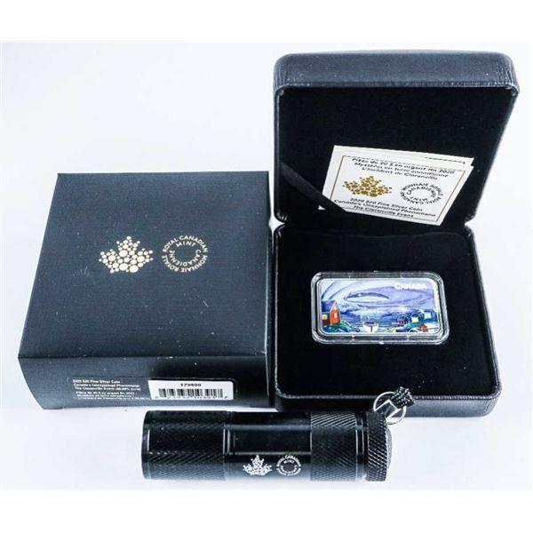 RCM 2020 $20 Canada's Unexplained Phenomena:  The Clarenville Event.  Pure Silver Coin.