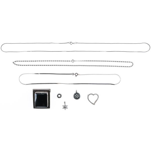 Estate Bag Lot Sterling Silver Estate  Jewellery 44 Grams