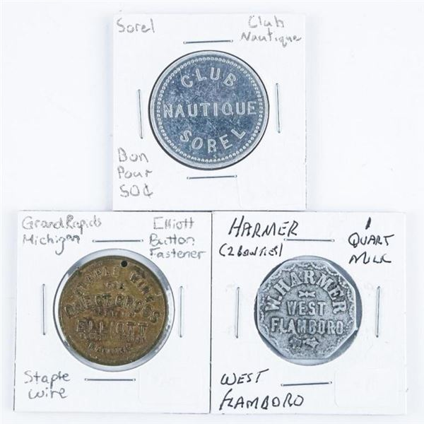 Group of (3) Tokens