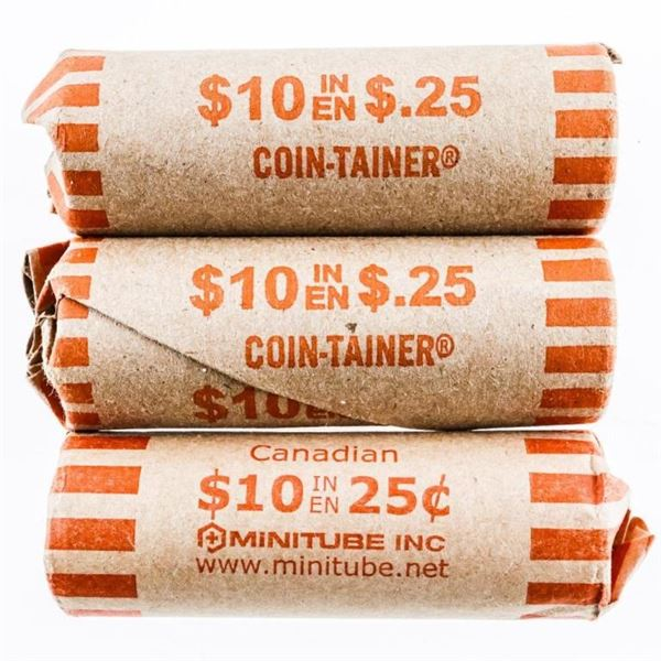 Lot 3 Rolls USA 25 Cents Coins