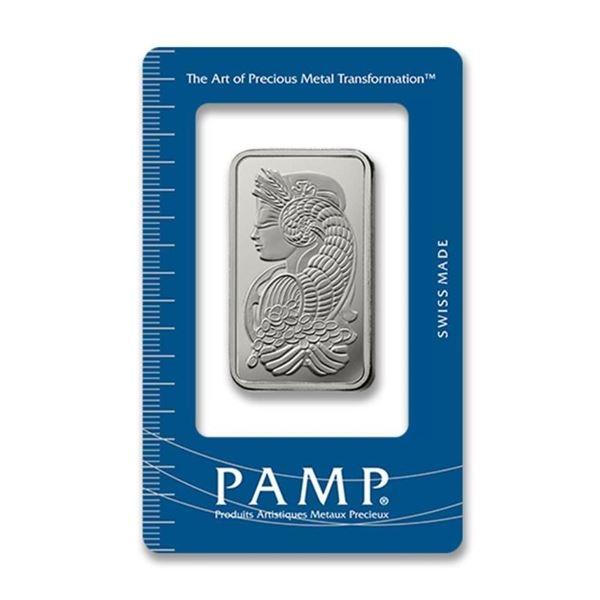 Lady Fortuna Swiss 1oz .999 Fine Platinum Bar  in Case.