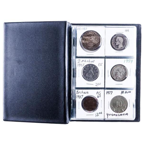 Coin Stock Book - 24 World Coins