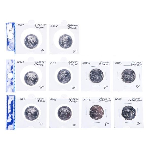 Group of (10)USA 25 Cents Coins