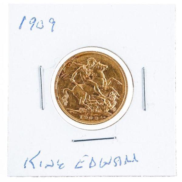 1909 GB King Edward Gold Sovereign