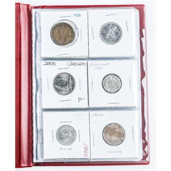 Coin Starter Collection, 12 Coins, Stock Book with  Silver