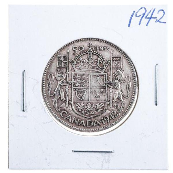 1942 Canada Silver 50 Cents