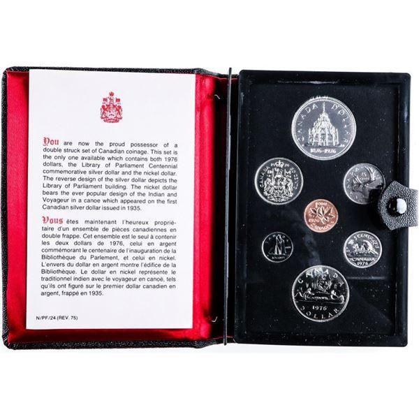 RCM 1976 Prestige/Specimen Mint Set - Black  Leather case