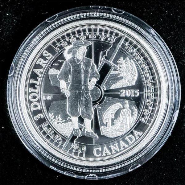 RCM 2015 Fine Silver $3 Coin Huronia Anniversary
