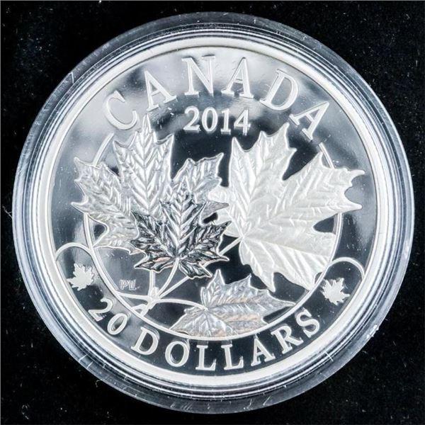 RCM 2014 Fine Silver Majestic Maple Leaves