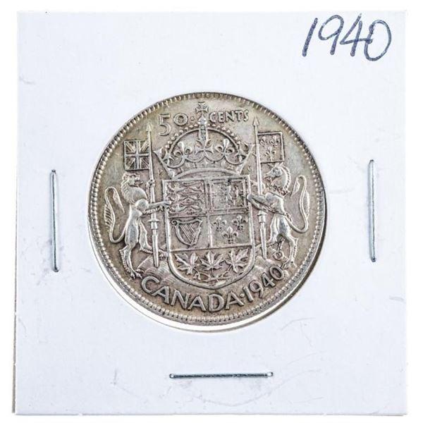 1940 Canada Silver 50 cents