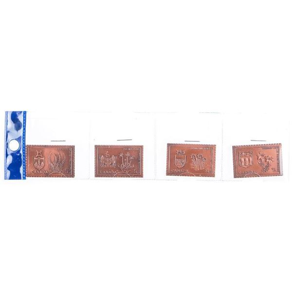 Lot 4 Canada Solid Bronze Stamps