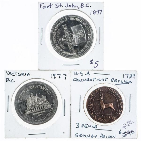Group of 4 Canadian Tokens (207)