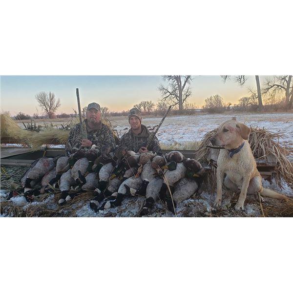 Nebraska Duck/Goose Combo Hunt for 3