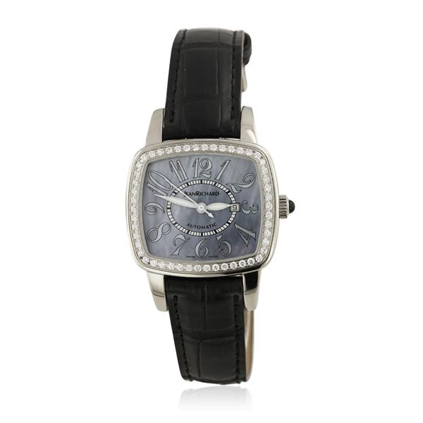 Jean Richard Stainless Steel Diamond Ladies Watch