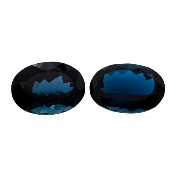 84.00 ctw. Natural Oval Cut London Blue Topaz Parcel of Two