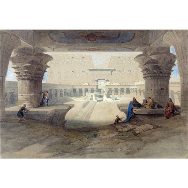 David Roberts - Portico of the Temple of Edfu in Upper Egypt