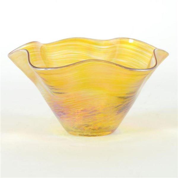Mini Wave Bowl (Gold) by Glass Eye Studio