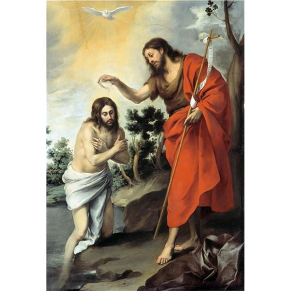 Bartolom� Esteban Murillo - The Baptism of Christ