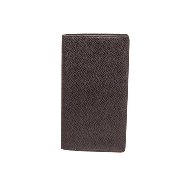 Louis Vuitton Black Taiga Leather Long Wallet
