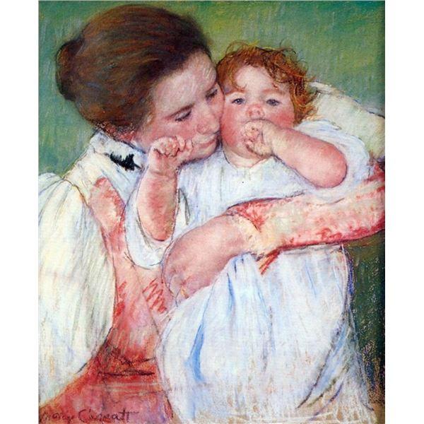 Mary Cassatt - Young Mothers Embrace