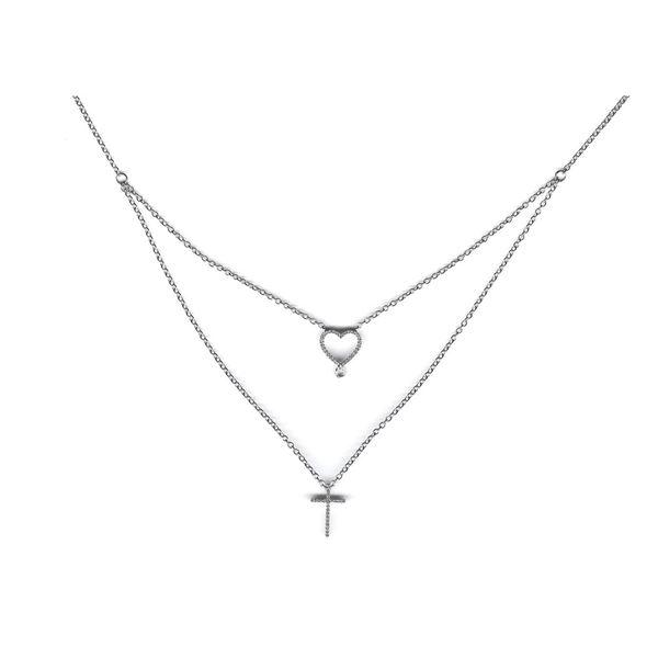 14K White Gold 0.16CTW Diamond Necklace, (I1-I2/H-I)
