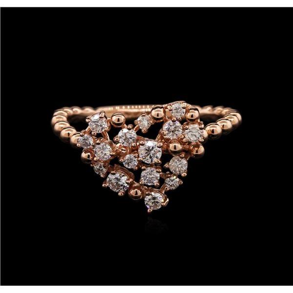 0.51 ctw Diamond Ring - 14KT White Gold