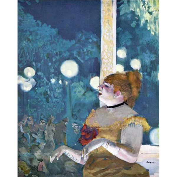 Edgar Degas - At The Cafe Concert
