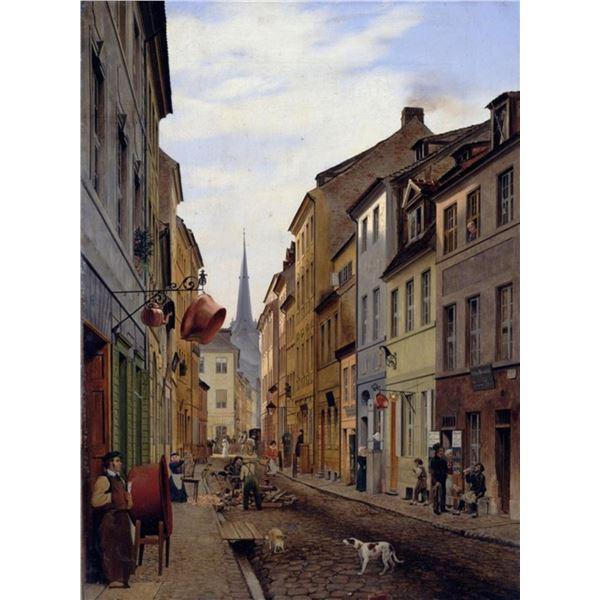 Eduard Gaertner - Street Scene