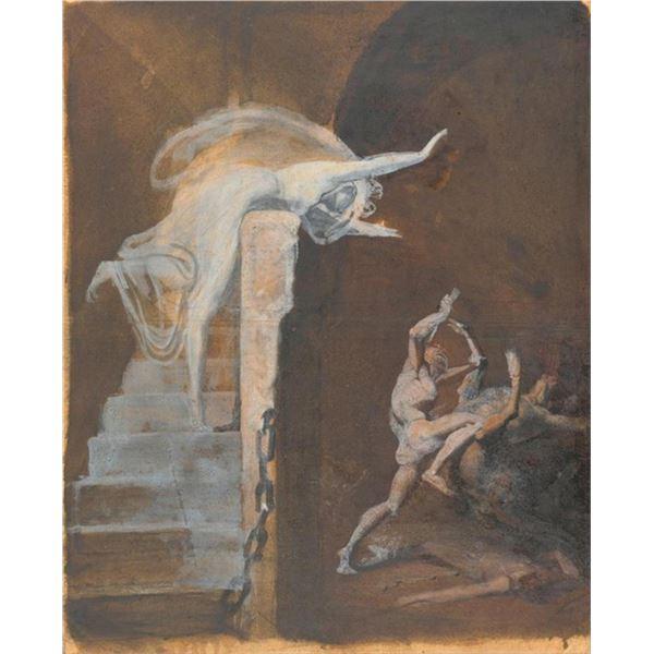 Henry Fuseli - Ariadne, Theseus and the Minotaur