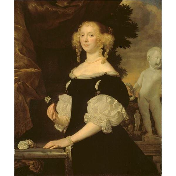 Abraham van den Tempel - Portrait of a Woman