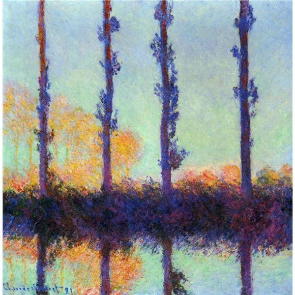 Claude Monet - Four Poplars