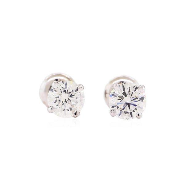 1.02 ctw Diamond Stud Earrings - 14KT White Gold