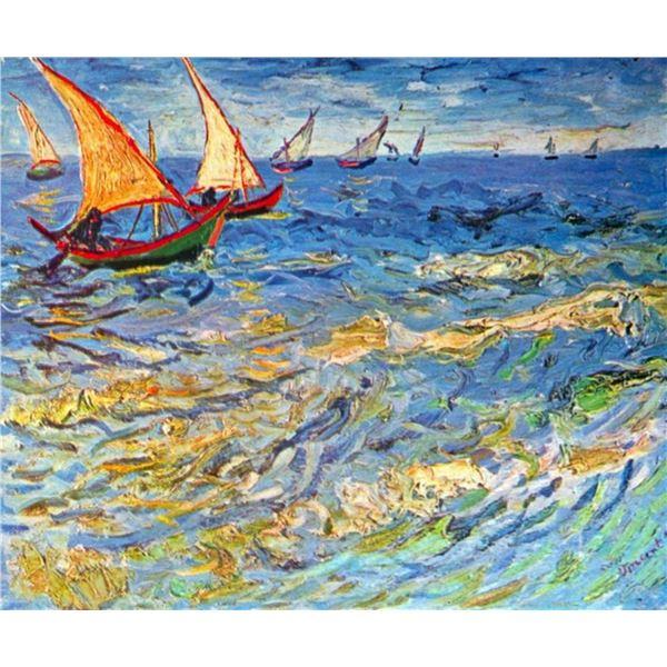 Van Gogh - The Sea At Saintes-Maries