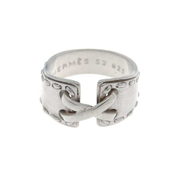 Hermes Silver Mexico US 6.5 Ring